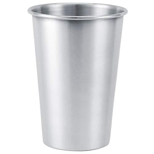 Vaso de cerveza de acero inoxidable Vasos de pinta Vasos de agua Vaso Vasos de metal premium - Vasos de cerveza apilables y duraderos Vasos de cerveza para enfriar, para viajes, exteriores, camping, t