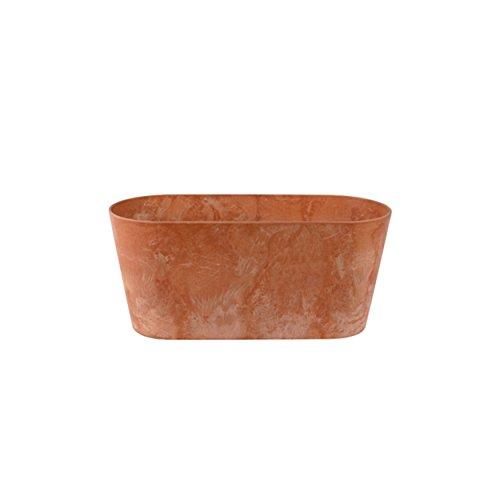 Artstone Maceta para Flores Balconera Claire, Resistente a Las heladas y Ligera, Tierra, 38x16x17cm