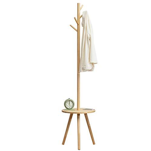Perchero de pie independiente Pantalla de abrigo independiente de madera con soporte de soporte de árbol de mesa de mesa con ganchos para el sombrero de la chaqueta colgante Perchero organizador de pe
