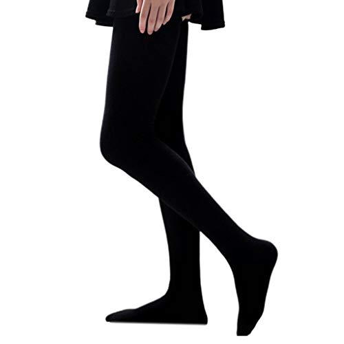 N\A Damen Winter extra Lange Baumwolle Oberschenkel hohe Strümpfe einfarbige elastische Rippe Top über dem Knie Stiefel Socken Student Beinwärmer Aisumi
