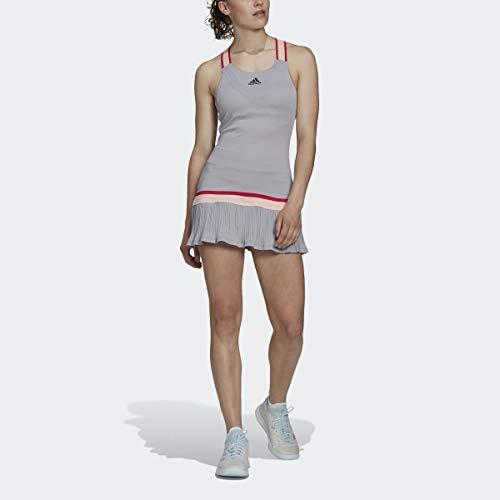 adidas womens Tennis Y-Dress HEAT.RDY Glory Grey X-Small
