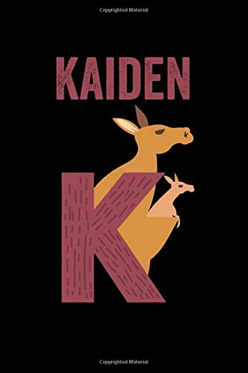 ギャザーフローバーターKaiden: Journal (Diary, Notebook) Personalized Custom Name Alphabet Kangaroo Birthday Gift for Boys