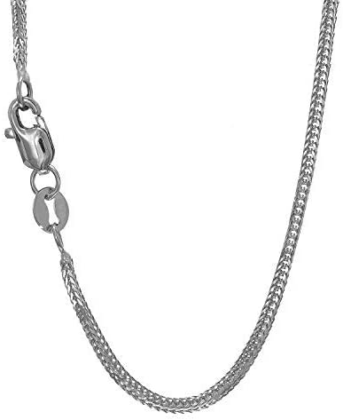14k SOLID Yellow Or White Gold .80mm Shiny Foxtail Chain Necklace for Pendants and Charms with Spring Ring Clasp (16