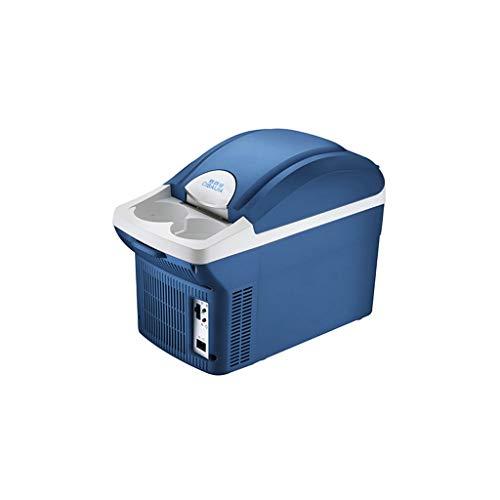 HSJ WYQ- Mini refrigerador. Refrigerador pequeño de 8,5 litros. Refrigerador pequeño de Doble Uso. Coche portátil. Pequeño refrigerador, 31 * 27 * 18 cm. refrigeración (Color : Blue2)