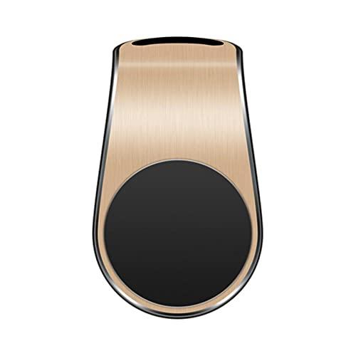 JYINGKJ Soporte para teléfono de Coche Tenedor de Aire magnético magnético Creativo Soporte de teléfono móvil magnético Magnet Potente Outlet de Aire Soporte de Coche (Color : Gold)