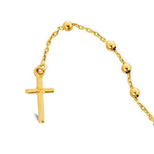 Rosario, material: oro Rosario de oro 60cm, 18K, 4,5g cm, 18 quilates, 4,5 g