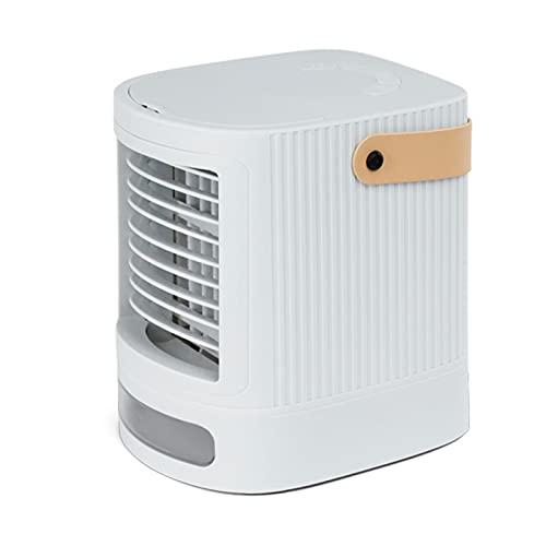 XHMJ Mini condizionatore d'Aria, Materiale ABS + PP, Regolazione della velocità del Vento a Tre Livelli, Alimentazione USB a Basso Rumore, Adatta per dormitorio/Ufficio White