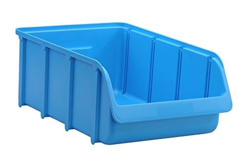hünersdorff Sichtbox / Stapelbox / Lagerbox in Größe 5, stapelbar, Farbe: Blau