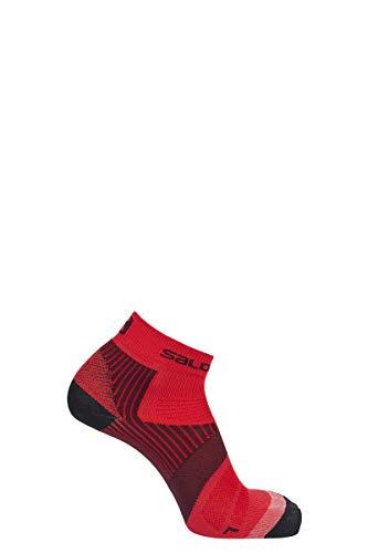 Salomon Unisex-Erwachsene Socks Sense Support Shell-Jacke, Goji Beere/Red Dahlia, Medium