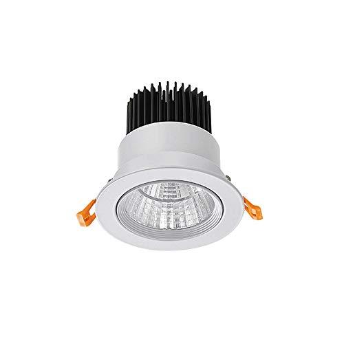 Mrdsre LED Downlight 3W-40W In een nis Ronde LED Plafondlamp verstelbare hoek Spotlight dimbaar Slim White Tri-Color 3000K 4000K 5000K Zuig Wandlamp Indoor Lighting Warm Wit Koud Wit
