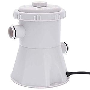 TaoToa Enchufe De La Ue 220V Bomba De Filtro De Piscina Electrica, Kit De Bomba Y Filtro De Piscina, Bomba De Piscina, Bomba De Piscina De Agua Para Ninos (Gris)