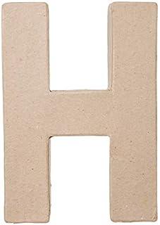 Darice 2862-H Paper Mache Letter - H - 8 x 5.5 x 1 inches