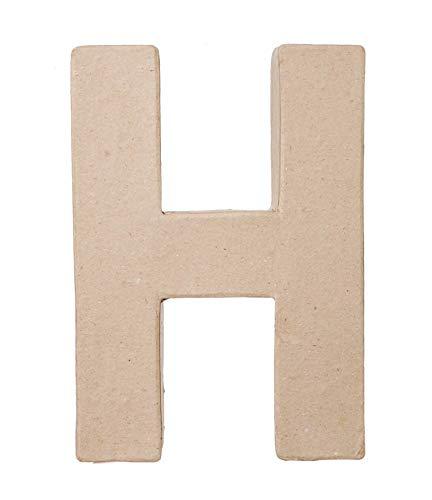 Darice 2862H Paper Mache Letter  H  8 x 55 x 1 inches