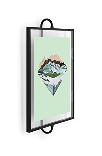 Umbra Phantom Wall Picture Frame, 8 x 10, Floating Frame, Black
