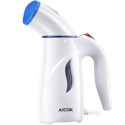 Aicok - Plancha de vapor de mano, calentamiento rápido, plancha vertical de viaje, portátil, elimina las arrugas