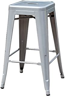"""Sunjoy Group INTL PTE S-DNC1267PST 27"""" Silver Stackable Metal Barstool"""