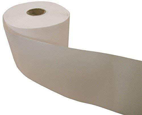 15 cm vit lågsmältande buckram på båda sidor strykbar säljs i 10 meter lång
