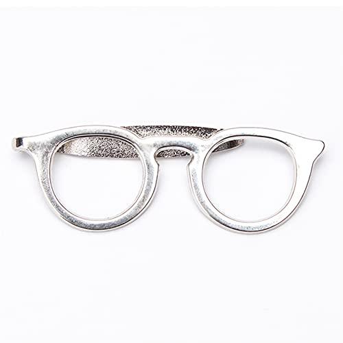 Clips de Corbata Clip de corbata para hombres estilo de moda sólido gafas de tono de tono de corbata práctica accesorios para hombre para hombre negro rojo corbata clips ( Metal color : LDJ1565 )