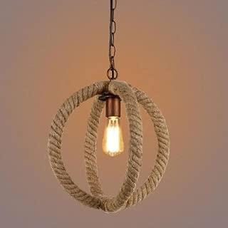 hua Bowline 1 Light Globe Shade Burlap Pendant Light