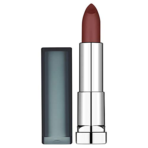 Maybelline New York Rossetto Color Sensational Matte Nudes, Texture Cremosa, Colore Intenso, Divine Wine (975)