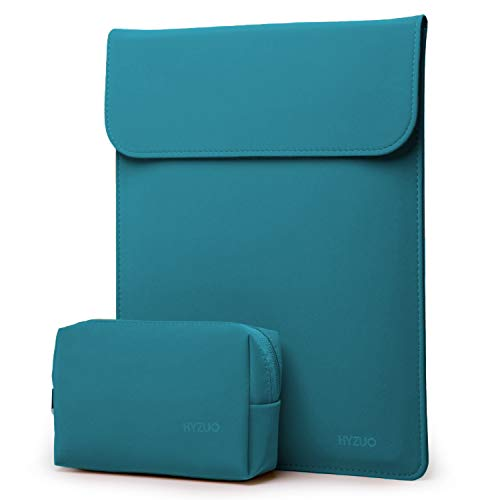 HYZUO 13 Inch Laptop Sleeve Case Compatible with MacBook Air 13 2018-2020/ MacBook Pro 13 2016-2020/ iPad Pro 12.9 2018 2020/ Dell XPS 13/ Surface Pro X 7 6 5 4/ Samsung Galaxy Book S, Deep Teal