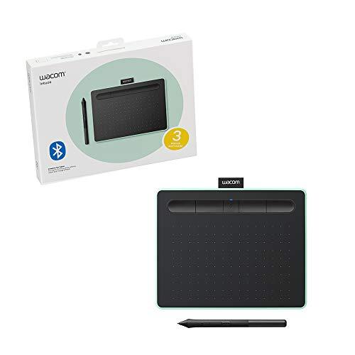 Mesa Digitalizadora Wacom Bluetooth Pequena Intuos Criativa - CTL4100WLE0, Verde e Preta