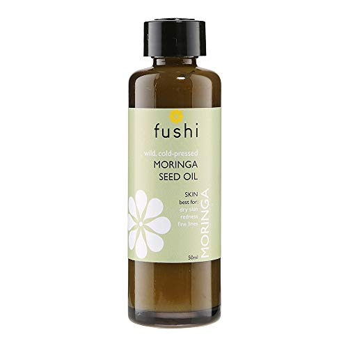 (Pack of 1) - Fushi Moringa Seed Organic Oil 50ml Extra Virgin, Biodynamic Harvested Cold Pressed