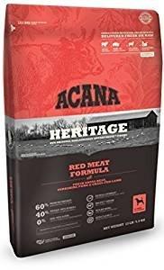 ACANA Heritage Meats Dry Dog Food. 25 Pound. Bag. (Beef, Pork, Lamb)