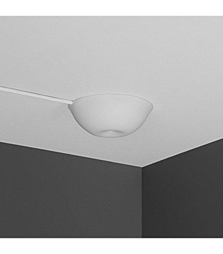 CableCup Design Deckenkappe, Super einfache Installation, schließt bündig ab, perfekt um das Kabel aus der Decke zu verstecken, Perfekte Passform in der Decke, weich und elastisch, 14,4 cm, weiß