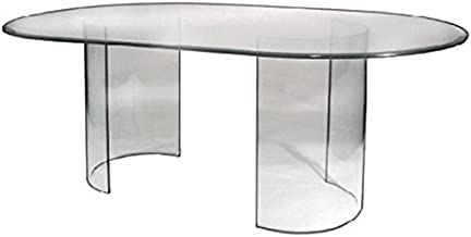 Best oval glass dining room table Reviews