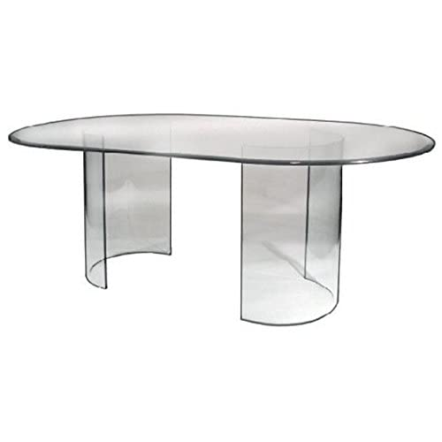 Oval Glass Dining Tables Amazon Com