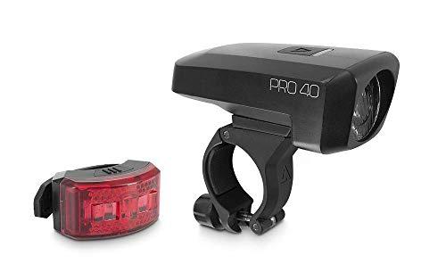 acid Pro 40 Fahrrad Beleuchtungsset schwarz