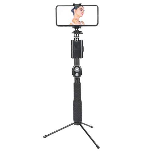 Archuu Trípode para Selfie Stick, trípode Extensible con Control Remoto Bluetooth, cámara de acción, portátil, Ajustable, para Selfie Stick, cámara, Soporte para teléfono, trípode para Yi/forGoPro