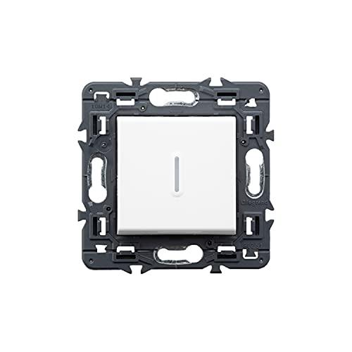 Interruptor luminoso con lámpara LED 10 AX 230V, modelo Valena Next, color blanco, 6 x 8,5 x 8,5 centímetros (referencia: Legrand 741243)