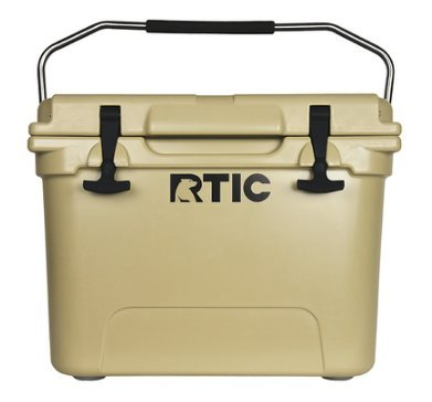 RTIC Cooler with Roto-Molded Construction and T-Latches