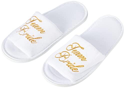 Alandra Gifts Slip Team Bride Spa-Slipper, Unisex-Erwachsene, Einheitsgröße, Weiß