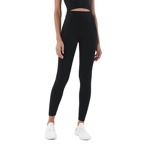 QTJY Pantalones de Yoga para Mujeres Desnudas Suaves, Cintura Alta, Levantamiento de Caderas, Pantalones elásticos de Secado rápido, para Correr al Aire Libre, AL
