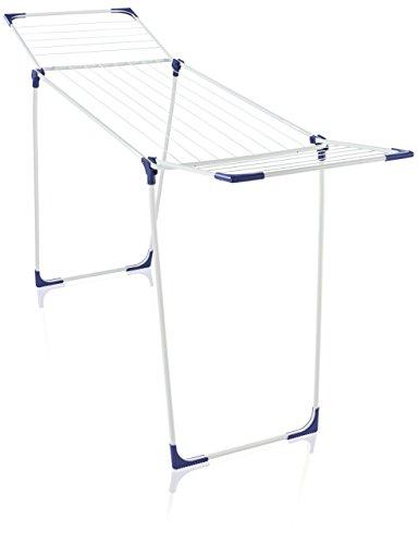 Leifheit Standtrockner Classic 180 Solid standfester Wäscheständer mit 18m Trockenlänge für 2 Waschmaschinenladungen, für drinnen und draußen, mit Flügeln für lange Wäsche