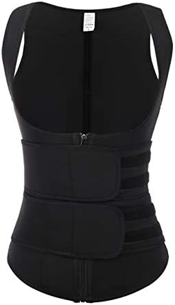 FeelinGirl Black Neoprene Underbust Waist Trainer Sport Workout Corset Vest S product image