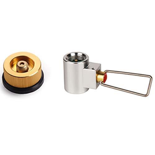Mimitool Conversión Camping Camping Estufa Adaptador Válvula Bote Gas Convertidor de Gas Relabelación