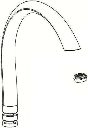 Moen 100009p Replacement Spout Kit For Kitchen Faucets Polished Brass Faucet Spouts And Kits Amazon Com