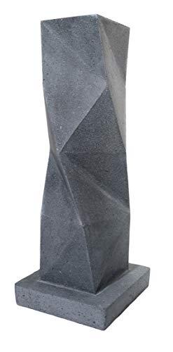 Etna Stone & Design Mesa de diseño de Piedra volcánica y Cristal – Single Squared