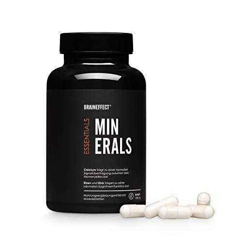 BRAINEFFECT MINERALS I Mineralien-Mix mit Eisen, Zink und Magnesium I 120 Kapseln I Für Veganer geeignet
