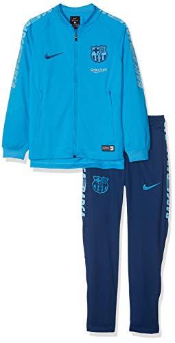 Nike FC Barcelona Dry Squad Track Suit K Tuta, Blu (Equator Vivid Sky/(Coastal Blue) 482), Large Bambino