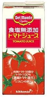 デルモンテ 食塩無添加 トマトジュース 1L紙パック×12(6×2)本入