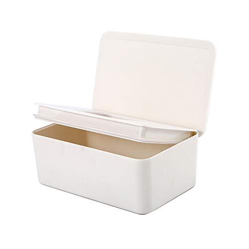 VICV2RO Caja de pañuelos húmedos para el hogar y el almacenamiento del sello a prueba de polvo con tapa contenedor de estilo japonés organizador de escritorio de oficina