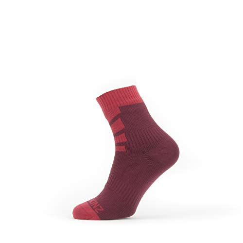 SealSkin Unisex Socken Warm Weather Mid Length Socken, rot, S, 2019088016