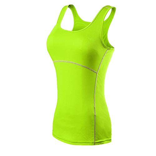 Yoga Fitness - Camiseta deportiva para mujer Verde verde L