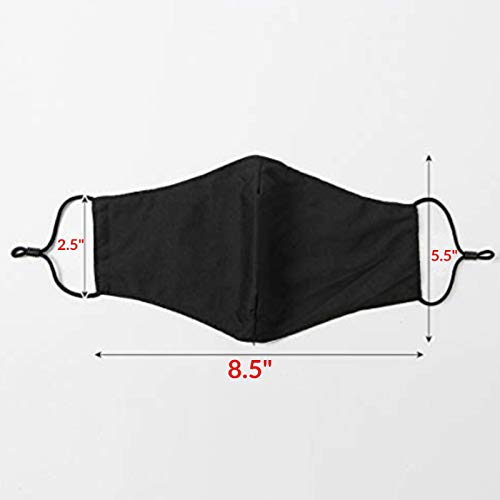 5 pack Anti Air Dust Cover Unisex Mouth Cover Cotton Washable Reusable