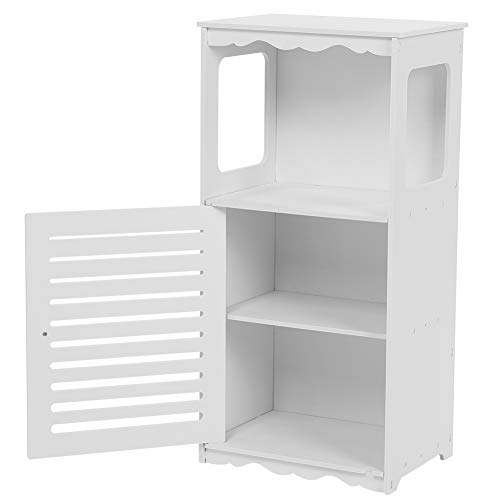 Cikonielf Armario de esquina para baño, de madera y plástico, elegante, resistente a la humedad y a la corrosión, para guardar accesorios de baño, 39,5 x 28 x 80 cm